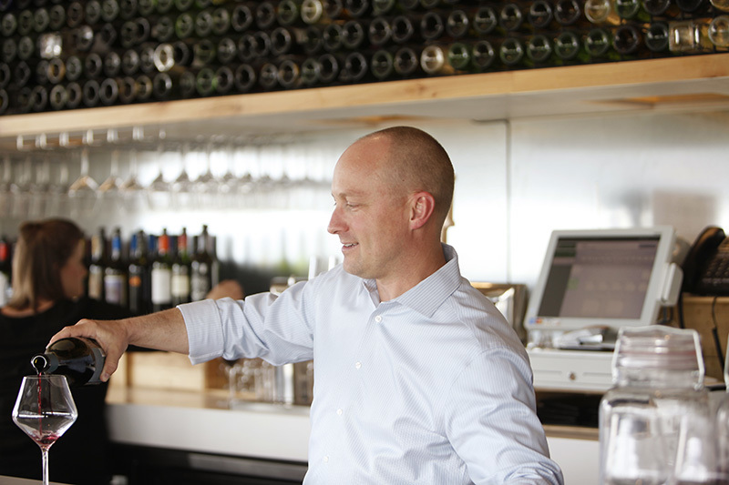 Terry, wine bar manager at Uncorked Kitchen Denver